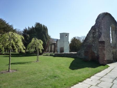 View of the two chapels from the car park